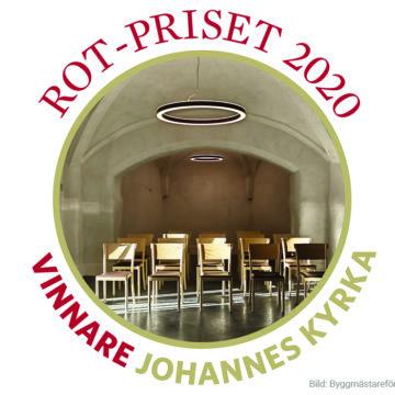 Årets ROT-pris till Johannes kyrka